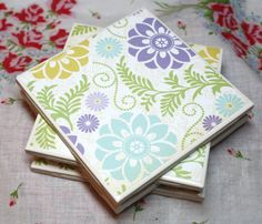 Hey, I found this really awesome Etsy listing at https://www.etsy.com/listing/180735031/flower-ceramic-coasters-set-of-4