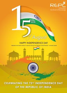 Happy Independence Day 2018 to all freedom in the Mind, Faith in the words. Pride in our Souls. Let's salute the Nation on Independence Day! Indian Independence Day, Happy Independence Day, Holi Poster, Festival Flyer, Indian Festivals, The Republic, Freedom, Knowledge, Social Media