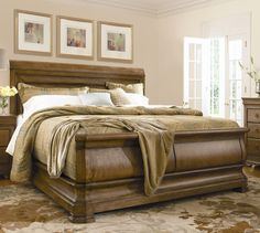 New Lou Queen Louie P's Sleigh Bed by Pennsylvania House