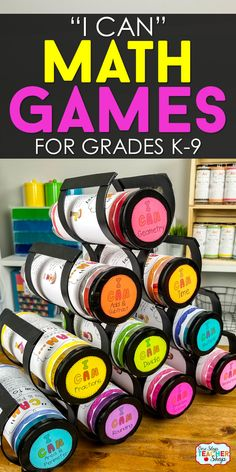 I CAN Math Games for Every Math ClassroomDiscover why I CAN Math Games are the perfect math resource for ALL Math classrooms. Use them for math test prep, math centers, whole group math revie. Math Classroom, Kindergarten Math, Math Math, Guided Math, Preschool, Classroom Ideas, Lego Math, Classroom Inspiration, Future Classroom