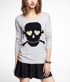 Cute skull Express sweater