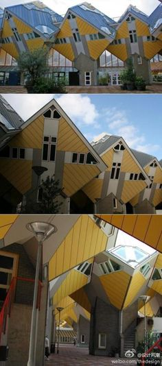 Kubuswoning (Cubic Houses)  (also known as Paalwoningen - Pole Dwellings)   Overblaak 70  Rotterdam   The Netherlands