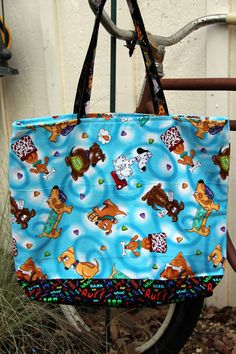 Dog Tote /Bag  Reversible Cotton ideal for by brigidbrammerbags, $16.00