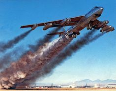 1957 - B-47 rocket assist take off by x-ray delta one, via Flickr