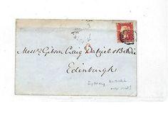 EE60 1857 GB INSPECTORS MARK Handstruck Italic Letter 'C' Red London Edinburgh