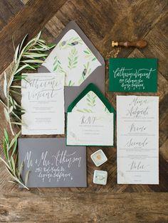 olive grove inspired wedding invites