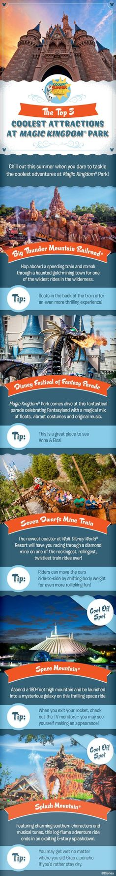 Check out the Top 5 Coolest Attractions at Magic Kingdom Park and get ready to have the Coolest Summer Ever as you plan your family vacation at Walt Disney World!