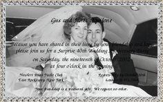 Anniversary Invitation. Great Wording!