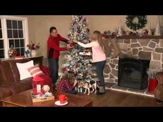 Kringle Express Flocked Winter Slim Christmas Tree on QVC - YouTube