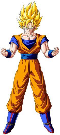 458px-Goku_Super_Saiyan_-_By_Yassir_Narkemonball.png (458×1024)