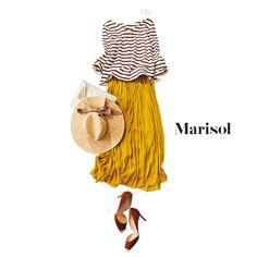 水族館デートへはブラウングラデで作る大人ボーダーでラフに楽しんでMarisol ONLINE|女っぷり上々!40代をもっとキレイに。
