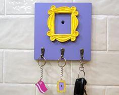 Friends Door Frame, Wall Mounted Key Holder, Friends Merchandise, Burlap Mason Jars, Starburst Mirror, Framed Tv, Friends Tv Show, Friends Series, 3d Prints