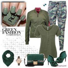 Ubrania moro jak zestawiać Military Style, Military Fashion, Fashion Competition, Green Fashion, Polyvore, Army Style