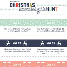 A fun Christmas scavenger hunt for kids! 10 clues to keep them searching and smiling. Easy to do indoors!