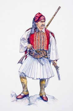 Ancient Greek Costumes, Greek Independence, Greek Warrior, Central And Eastern Europe, Revolution, Greek History, Indian Photography, Special Forces, Military History