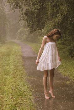 There isn't much that beats the sensation of wet asphalt and wet grass under one's bare feet.