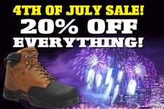 Get 20% off all boots at www.workbootworld.com. Includes all regular and clearance priced boots. Offer valid until Wednesday July 8th, 2015. Must use promo code: WBWIND200715