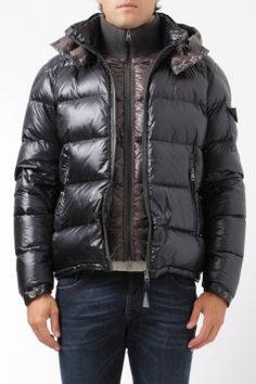 Moncler down jacket zin blue/brown piumino zin blu/moro Moncler shop online