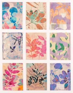 Journal d'art Québec: Appel de créations septembre 2020 Paper Collage Art, Flower Collage, Flower Art, Collage Collage, Art Floral, Motif Floral, Tracing Art, Gelli Plate Printing, Gelli Arts