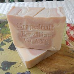 All Natural Soap -South African Grapefruit with Brazilian Clay and Tangerine Butter 7 .oz Natural Handcrafted Soap LLC http://www.amazon.com/dp/B001AKQC0Q/ref=cm_sw_r_pi_dp_Bvr3vb1W4MSSH