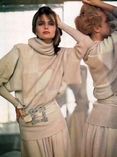 Laura Biagiotti, Harper's Bazaar, September 1984. Photograph by Arthur Elgort.