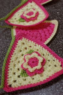 Crochet bunting - my own but I love how it worked out!!!