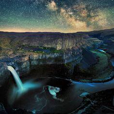 Palouse Falls by Leif Smith, via 500 px