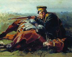 Dismounted horseman, Russian Civil War