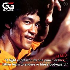 Listen to the master himself . Poker Hands, Poker Night, Online Poker, One Punch, Bruce Lee, Kung Fu, Learning, Summer, Movie Posters