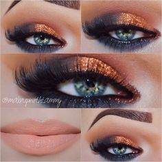 Copper eye look