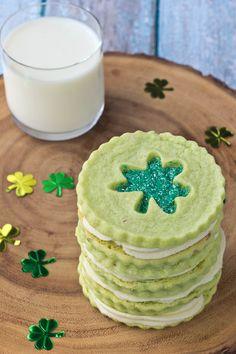 Pistachio Pudding Linzer Cookies from @bakingaddiction