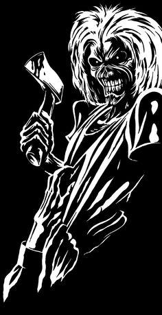 / Iron Maiden - Killers on Behance Metal Music Quotes, Metal Music Bands, Iron Maiden Band, Eddie Iron Maiden, Rock Posters, Band Posters, Arte Pink Floyd, Heavy Metal Art, Heavy Metal Tattoo