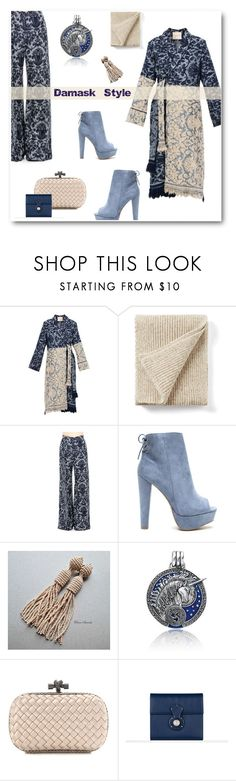 """Blue & Beige Damask Style"" by metter1 ❤ liked on Polyvore featuring Erika Cavallini Semi-Couture, Joseph, Oscar de la Renta, Bling Jewelry, Bottega Veneta, Ralph Lauren and disfordamask"