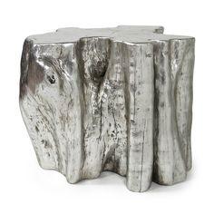 Silver Wood Stump - Large