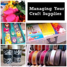 Tips on organizing craft supplies   Organized Island   #craft #organization