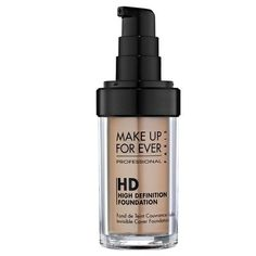 """MAKE UP FOR EVER HD Invisible Cover Foundation: """"An oil-free medium-to-full-coverage liquid foundation that covers skin imperfections flawlessly while remaining invisible on-screen and in real life."""""""