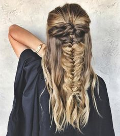 20 Cozy and Cute Sweater Weather Hair Ideas: #17: Fish Tail Braid