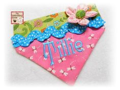 Dog Bandana TILLIE   Sizes xssm or med by Theembroideryroom, $12.50