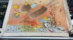 Original artwork from Peter Max, signed 1985, available at Cauz For Pawz Thrift Stores