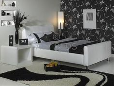 Snow Small Single Faux Leather Bed frame. With the right mix of decor this looks fantastic