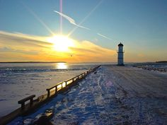 Lighthouse in Lachine in winter. Canada by Sergey Kazantsen Of Montreal, Montreal Canada, Entertainment Sites, 10 Picture, Lighthouses, Quebec, The Darkest, Around The Worlds, Sunset