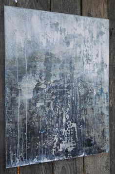 Gray Abstract Painting Neutral Modern 18 x 24 Canvas Wall Art