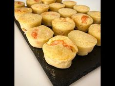 Bouchées aux crevettes au Thermomix - YouTube Beignets, Make It Yourself, Breakfast, Food, Savory Muffins, Salty Cake, Waffles, Thermomix, Breakfast Cafe
