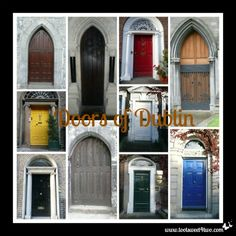 The doors of Dublin, Ireland - read the story at www.tootsweet4two.com.