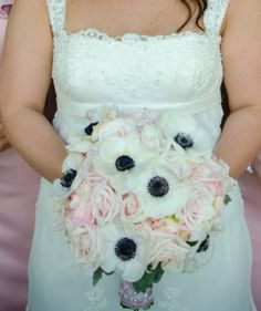 One of our beautiful brides carried this gorgeous Anemone bouquet!  Wedding was held at Piedmont Park, Lakeside