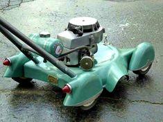 Retro DIY Lawn Mowers Inspired by Classic Cars retro lawn mower classic car lawn mower DIY lawn mowe Arte Lowrider, Pedal Cars, Mini Bike, Lawn Mower, Cadillac, Supercars, Vintage Cars, Vintage Tractors, Vintage Tools