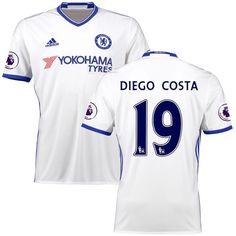 Diego Costa Chelsea adidas 2016 2017 Third Replica Player Jersey - White a0902634bba2c