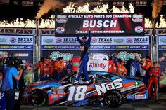 The NASCAR News Source: Kyle Busch Wins It Again in Texas