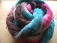 116g Handpainted Bluefaced Leicester Fibre  by northyorkshireyarns, $17.00