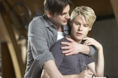 """""""You are my sunshine"""" Justin (Randy Harrison) and Brian (Gale Harold) - Queer as Folk"""